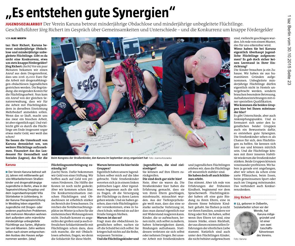 KARUNA-tagesszeitung.-Synergien