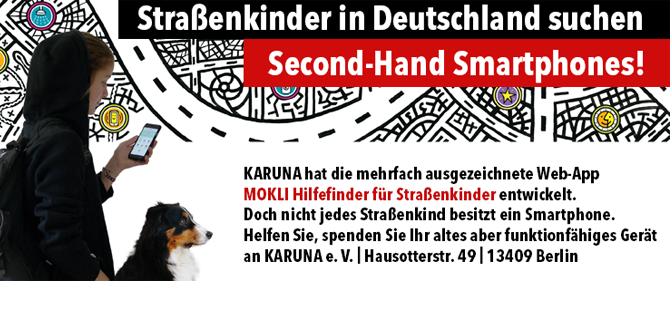 Strassenkinder suchen Second-Hand Smartphones